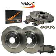 [front+ Rear] Oe Replacement Brake Rotors With Ceramic Pads And Hardware Kit