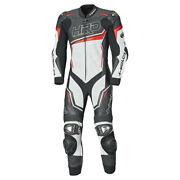 Held One-piece Sports Motorcycle Leather Suit Slade Ii In Black/white/red New