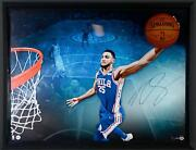Ben Simmons 76ers Framed Signed 52 X 40 Breaking Through Photo - Le 125 - Ud