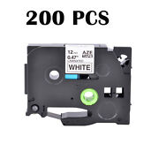 200pk Tz-231 Tze-231 Black On White Label Tape For Brother P-touch 0.47 1/2