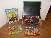 Vintage Original 1967 Lite-brite Toy 5455 W/pegs And Picture Refill + Shapes