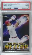 2020 Topps Archives Nickname Poster Mike Trout 303 Psa 9