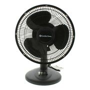 12'oscillating Stand Desk Table Electric 3-speed Fan Indoor Silent Portable Fan