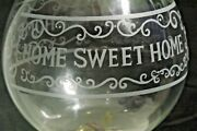 Lamps Glass Oil Country Home Sweet Home Chimney Country Cabin 2pc Lot
