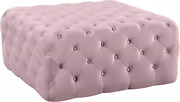 Meridian Furniture Ariel Collection Modern | Contemporary Pink Velvet With Deep