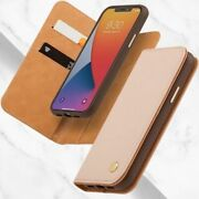 Wallet Case For Iphone 12 Pro Max Vegan Leather Magnetic Folding Stand Luna Pink