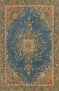 Vintage Overdyed Tebriz Handmade Area Rug Evenly Low Pile Oriental Carpet 9and039x12and039