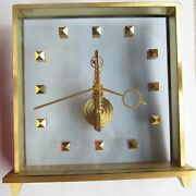 Jaeger Lecoultre 8 Dayand039s Desk Clock 15 Cm. Aside In Line Movement Load Manual