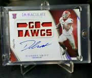 2020 Dand039andre Swift Rc Auto 1 Of 1 Go Dawgs Immaculate Card💎