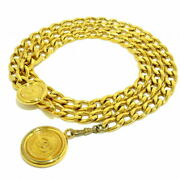Sale Belt Gold Chain Belt Coco Mark Metal Material Secondhand No.1873