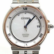 Citizen Menand039s Watches Exceed Euros Ecodrive Radio Clock As707651a No.4878