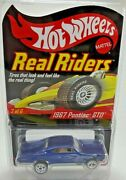 Hot Wheels Rlc Real Rider Series 4 Blue 1967 Pontiac Gto Mint 3865/11000