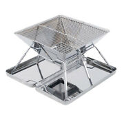 Stainless Steel Portable Folding Outdoor Bbq Grill Charcoal Pit Patio Bbq Stove