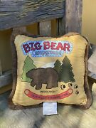 Woolrich Throw Pillows Faux Suede Nature Big Bear Camping Outdoor Adventures