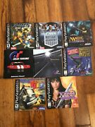 Sony Playstation Ps1 Manuals Only Lot Of 8 X-men Gran Turismo Xena Magic