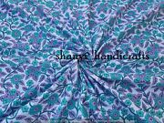 By The Yard Indian Hand Block Print Cotton Voile Fabric Sewing Material Fabric
