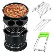 12pcs/set Air Fryer Pan Baking Basket Pizza Plate Grill Pot Kitchen Barbecue Too
