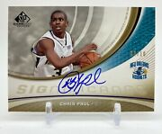 2005-06 Sp Game Used Edition Significance Chris Paul Rc Rookie On Card Auto 2/10