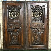 Pair 18 Th Amour Motherly Love Panel Door Antique French Architectural Salvage