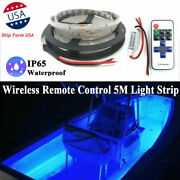 Upgrade Wireless Waterproof 5m 12v Led Strip Lamp Blue For Boat/truck/car/suv/rv
