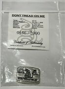 Five 2015 - 1 Oz Hand Poured Dont Tread On Me Silver Bars Consecutive Numbers