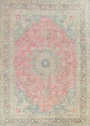 Vintage Kashmar Floral Handmade Area Rug Evenly Low Pile Oriental Carpet 9and039x13and039