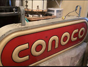 Conoco Lighted Sign Excellent Vintage Gas Station
