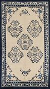 Antique Peking Vegetable Dye Chinese Ivory Hand-knotted Oriental Area Rug 5x8 Ft