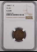 1888/7 Indian Head Penny Fs-301 G 6 Bn Brown Ngc 001