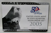 2005-s Us Mint 5 Piece 50 State Quarters Silver Proof Set Mg