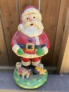 Penny Mcallister 2009 Santa With Circus Toys Elephant Large 23 Inches