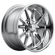 22 Inch 5x5 4 Wheels Rims Us Mag 1pc U110 Rambler 22x11 +18mm Chrome Plated