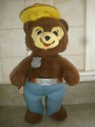 Vintage 1960's Knickerbocker Toys Smokey The Bear - Belt, Badge, And Hat 15.0 In