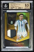 2015 Panini Select First Team Swatches Gold Prizm Prime /10 Lionel Messi Bgs 9.5