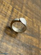 Spoon Ring William Rodgers Adoration Pattern Silver Plate Floral Size 10