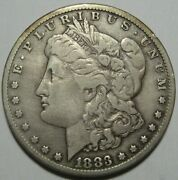 = 1883-cc F/vf Morgan Dollar Lightly Cleaned Carson City Free Shipping