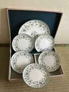 Noritake Grass Pattern Floral Medium Plates Platter Set Plate