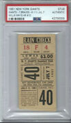 Willie Mays Home Run 10 Ticket Stub 1951🔥rookie Year-polo Grounds-pop 1/1🔥psa