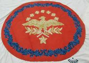 Antique American Eagle Hooked Rug Priscilla Turner Auburn Maine 100 Wool 5and039x6and039