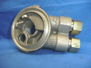 Nos 1990and039s Gm Aluminum Oil Filter Housing Adapter With Oil Cooler Lines C4-l