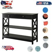 Entry/sofa Console Table W/drawer And Open Shelf For Entryway/living Room Usa