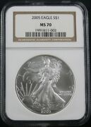 2005 American Silver Eagle Ngc Ms 70