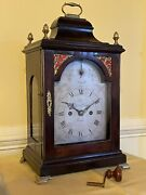 Antique English Bracket Clock William Webster Fusee Movement Working Great