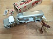 Nylint 6300 Ford Horse Van Semi Truck Tractor And Trailer Set Steel Toy Boxed