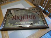 Vintage Michelob Beer Since 1896 Framed Glass Mirror Beer Sign 26andrdquo X 18andrdquo