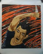 Richard Bosman Attacker Woodcut Hand Signed And Numbered Wow 1982