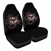 Bad To The Bonemail Car Seat Covers Nerdy Geeky Pop Culture Set Of 2 Front Seat