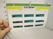 Mattel 1975 Toy Store Sticker Sheet Lone Ranger Winchester Rapid Fire Rifle