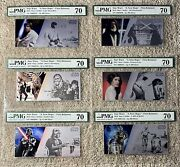 2018 Star Wars Pmg 70 - 6 Note Set With Box Skywalker Darth Vader Leia Solo R2d2