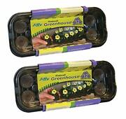 Seed Starter Tray Kit Seedling Starting Plant Trays Jiffy Peat Pellets Pods